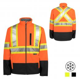 116516 TERRA Orange Hi-Vis Softshell Jacket